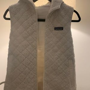 Like New Patagonia Reversible White Vest